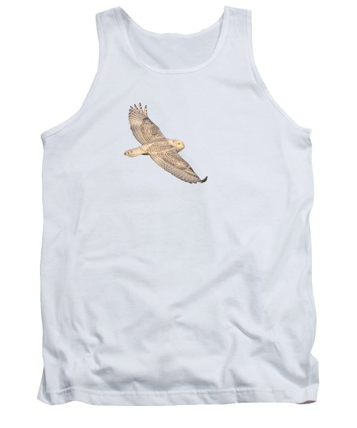 Isolated Snowy Owl 2018-1 Tank Top