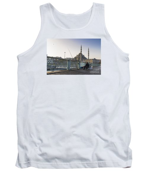 Tank Top featuring the photograph Istanbul From The Galata Bridge by Yuri Santin