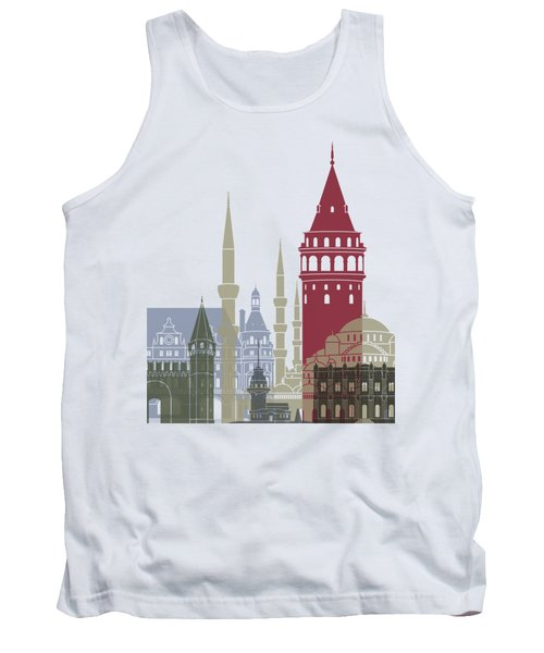 Istanbul Skyline Poster Tank Top by Pablo Romero