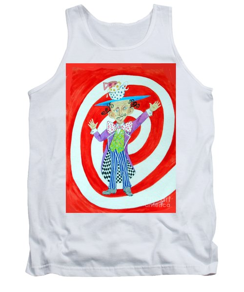 It's A Mad, Mad, Mad, Mad Tea Party -- Humorous Mad Hatter Portrait Tank Top
