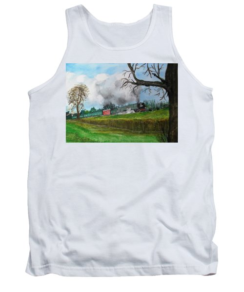 It's All Uphill To Scotland Tank Top by Carole Robins