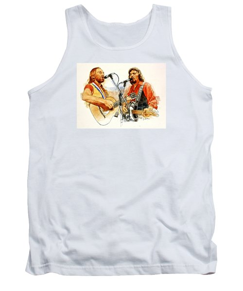 Its Country - 7  Waylon Jennings Willie Nelson Tank Top