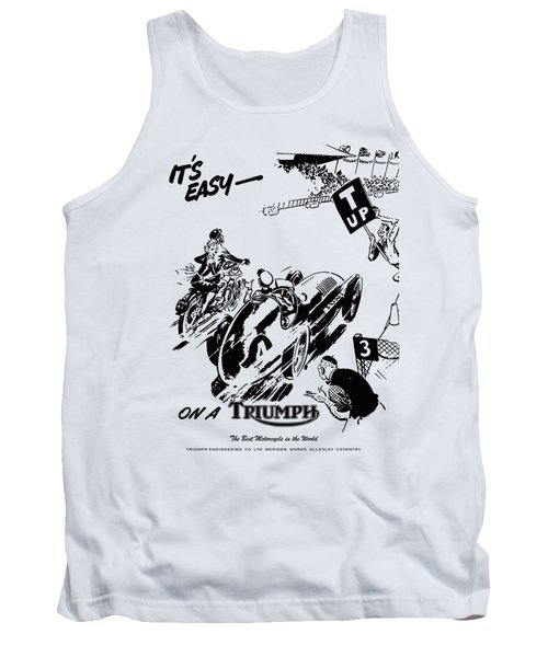 It's Easy On A Triumph Tank Top