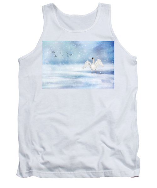 It's Snowing Tank Top by Annie Snel