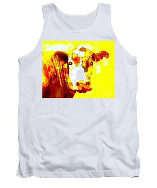Yellow Cow Tank Top