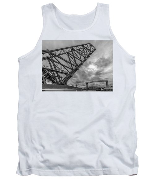 Jackknife Bridge To The Clouds B And W Tank Top