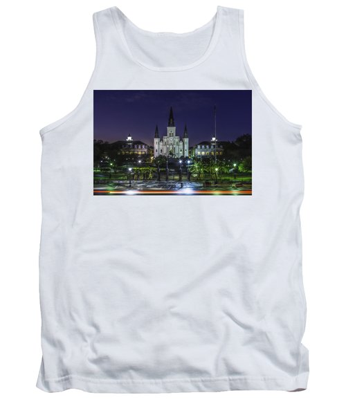 Jackson Square And St. Louis Cathedral At Dawn, New Orleans, Louisiana Tank Top