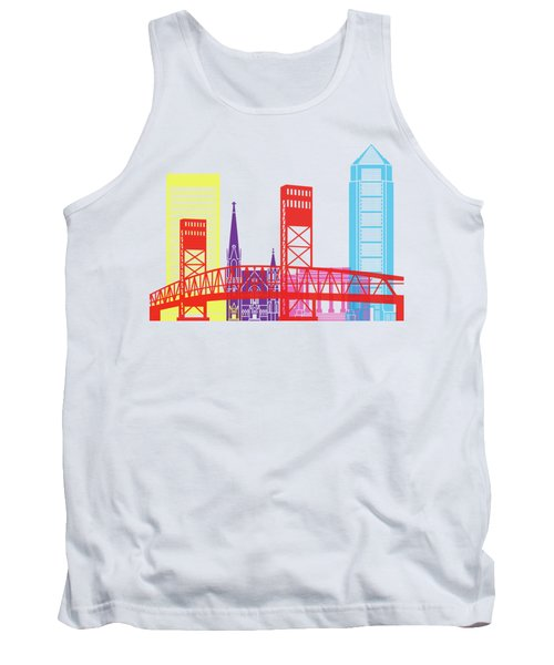Jacksonville Skyline Pop Tank Top