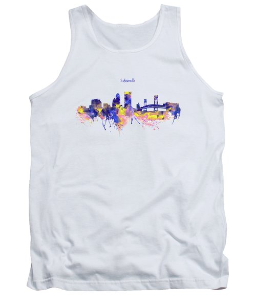 Jacksonville Skyline Silhouette Tank Top