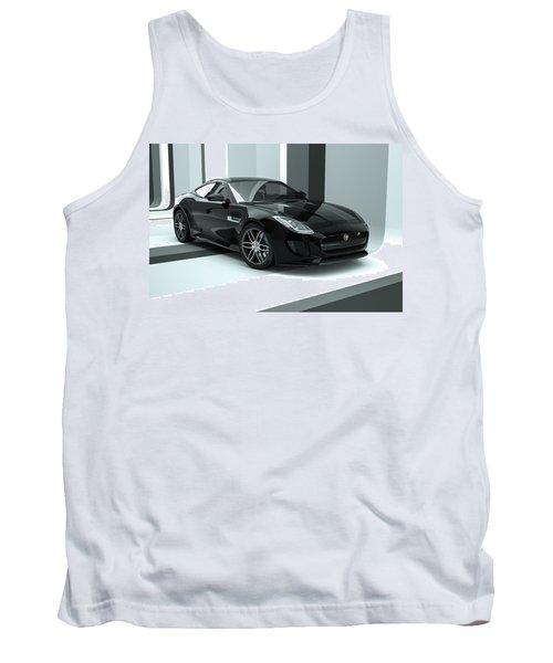 Jaguar F-type - Black Retro Tank Top