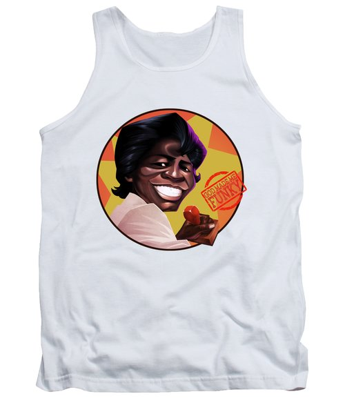 Tank Top featuring the drawing James Brown by Nelson Dedos Garcia