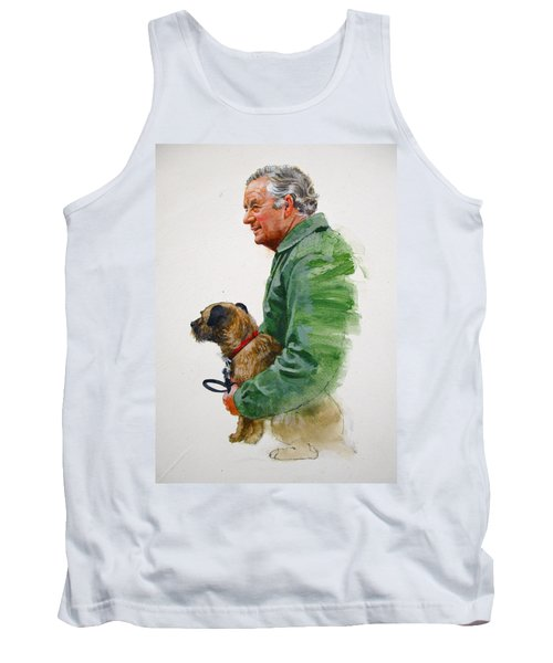 James Herriot And Bodie Tank Top by Cliff Spohn