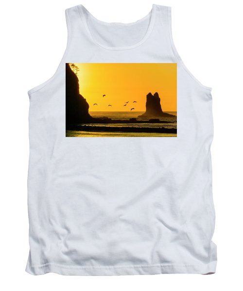 James Island And Pelicans Tank Top
