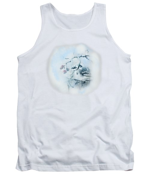 Tank Top featuring the photograph January Bluejay  by Susan Capuano