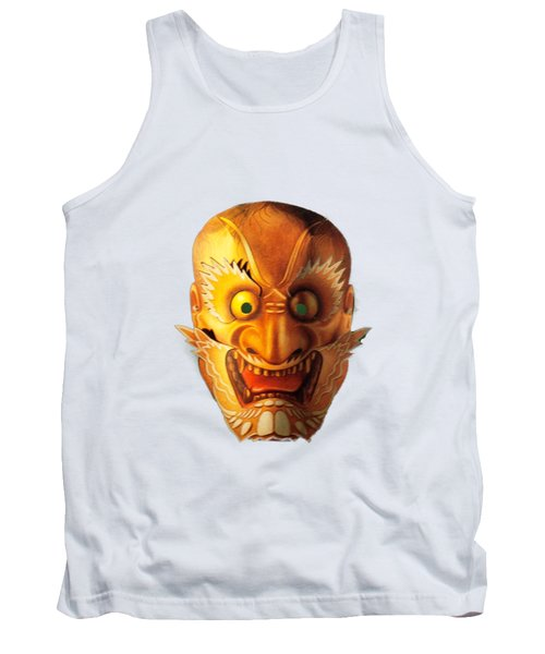 Tank Top featuring the photograph Japanese Mask Cutout by Linda Phelps