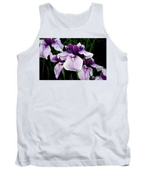 Japanese Water Iris In Purple 2714 H_2 Tank Top