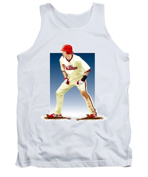 Tank Top featuring the digital art Jayson Werth by Scott Weigner