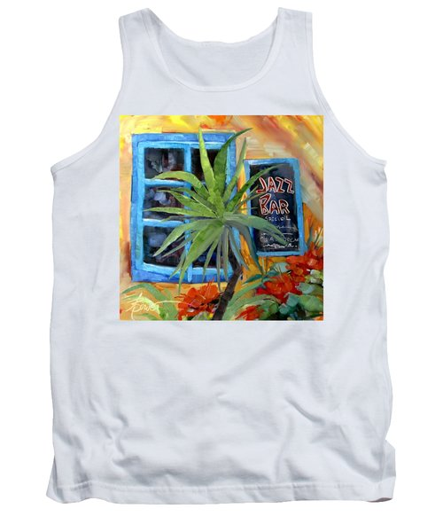 Jazz Bar In Santorini Tank Top