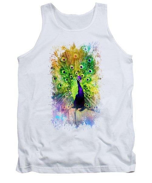 Jazzy Peacock Colorful Bird Art By Jai Johnson Tank Top by Jai Johnson