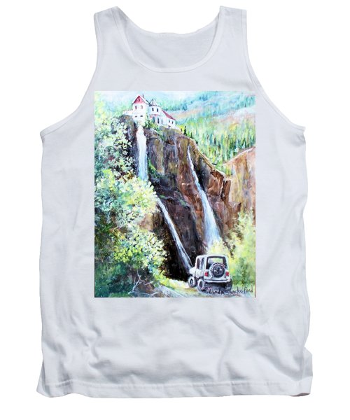 Jeeping At Bridal Falls  Tank Top