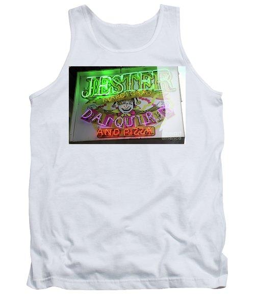 Jester Mardi Gras Sign Tank Top by Steven Spak
