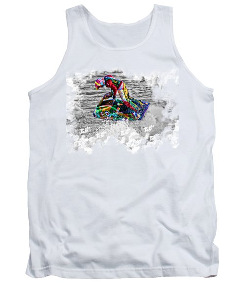 Jet Ski On Transparent Background Tank Top by Terri Waters