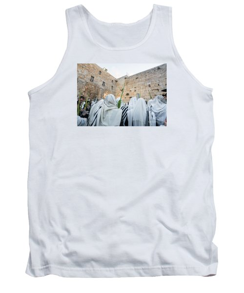 Jewish Sunrise Prayers At The Western Wall, Israel 10 Tank Top