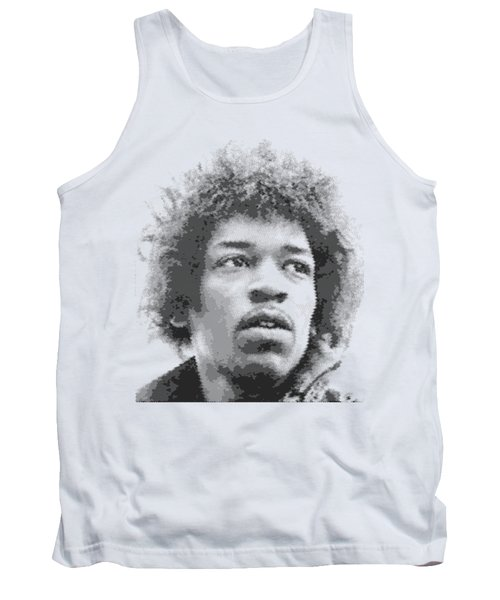 Jimi Hendrix - Cross Hatching Tank Top