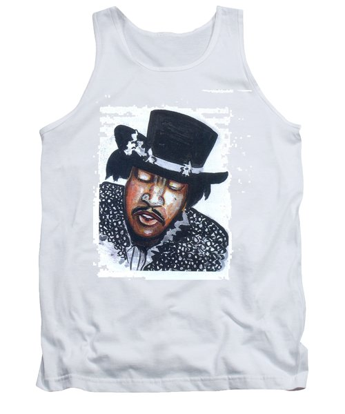 Tank Top featuring the painting Jimi Hendrix by Emmanuel Baliyanga