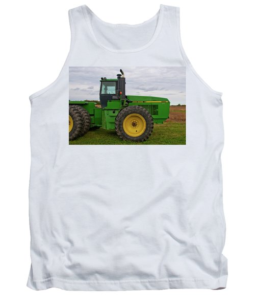 Tank Top featuring the photograph John Deere Green 3159 by Guy Whiteley