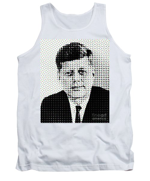 John F Kennedy In Dots Tank Top