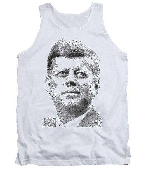 John Fitzgerald Kennedy - Cross Hatching Tank Top