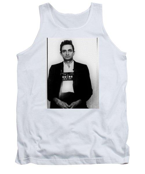Johnny Cash Mug Shot Vertical Tank Top