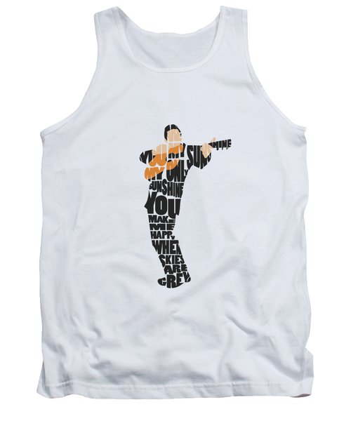 Johnny Cash Typography Art Tank Top