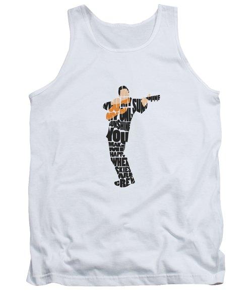 Johnny Cash Typography Art Tank Top