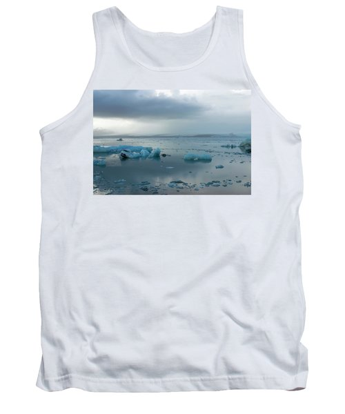 Tank Top featuring the photograph Jokulsarlon, The Glacier Lagoon, Iceland 1 by Dubi Roman