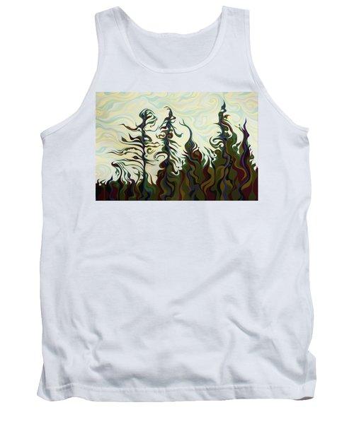 Joyful Pines, Whispering Lines Tank Top