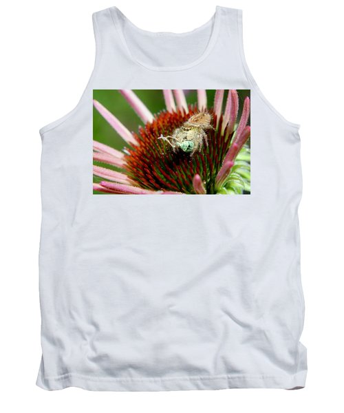 Jumping Spider With Green Weevil Snack Tank Top