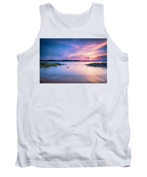 June Sunset On The River Tank Top by Edward Kreis