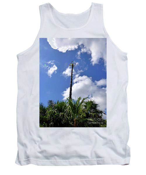 Tank Top featuring the photograph Jungle Bungee Tower by Francesca Mackenney