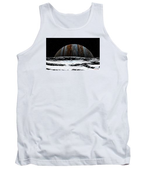 Tank Top featuring the digital art Jupiter Rise At Europa by David Robinson
