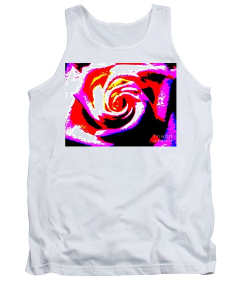 Just A Rose Tank Top by Tim Townsend