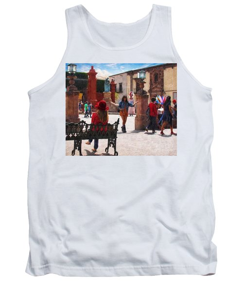 Tank Top featuring the photograph Just Before The Wedding by John Kolenberg