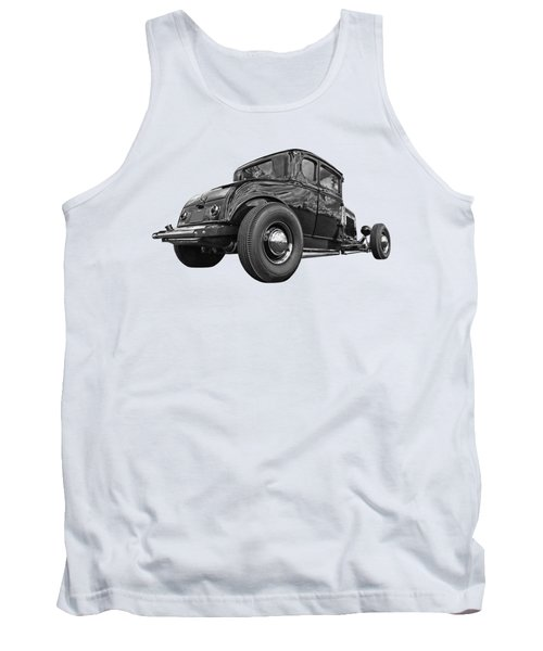 Just Chillin' - Black And White Tank Top