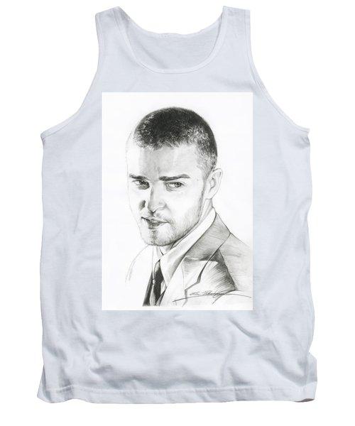 Justin Timberlake Drawing Tank Top