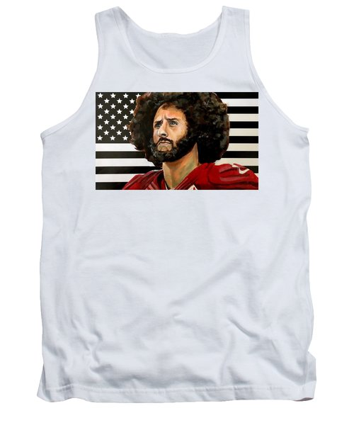 Tank Top featuring the painting Kaeptain America by Joel Tesch