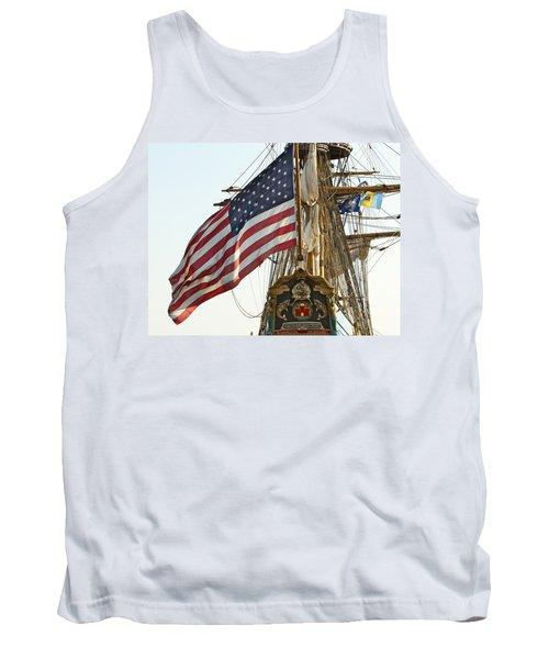 Kalmar Nyckel American Flag Tank Top