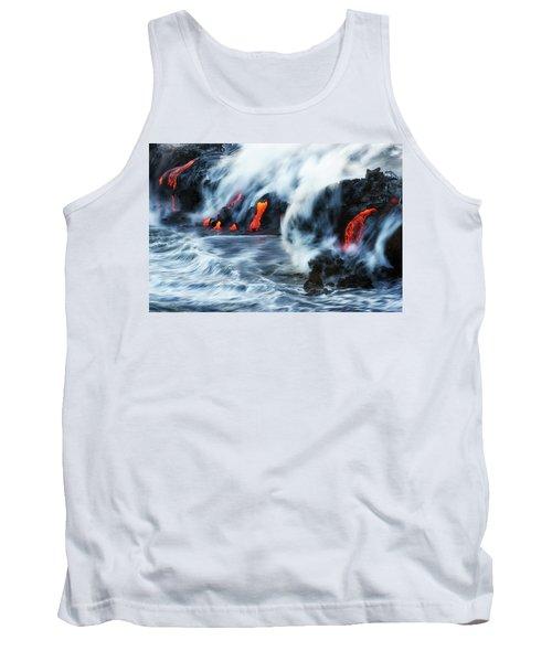 Kamokuna Lava Ocean Entry, 2016 Tank Top