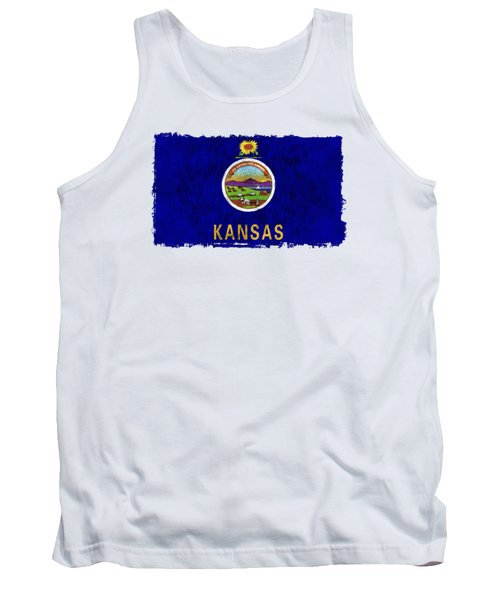 Kansas Flag Tank Top by World Art Prints And Designs