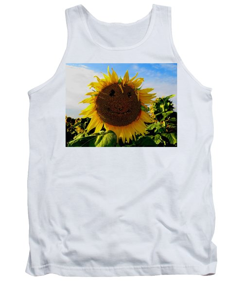 Kansas Sunflower Tank Top by Keith Stokes